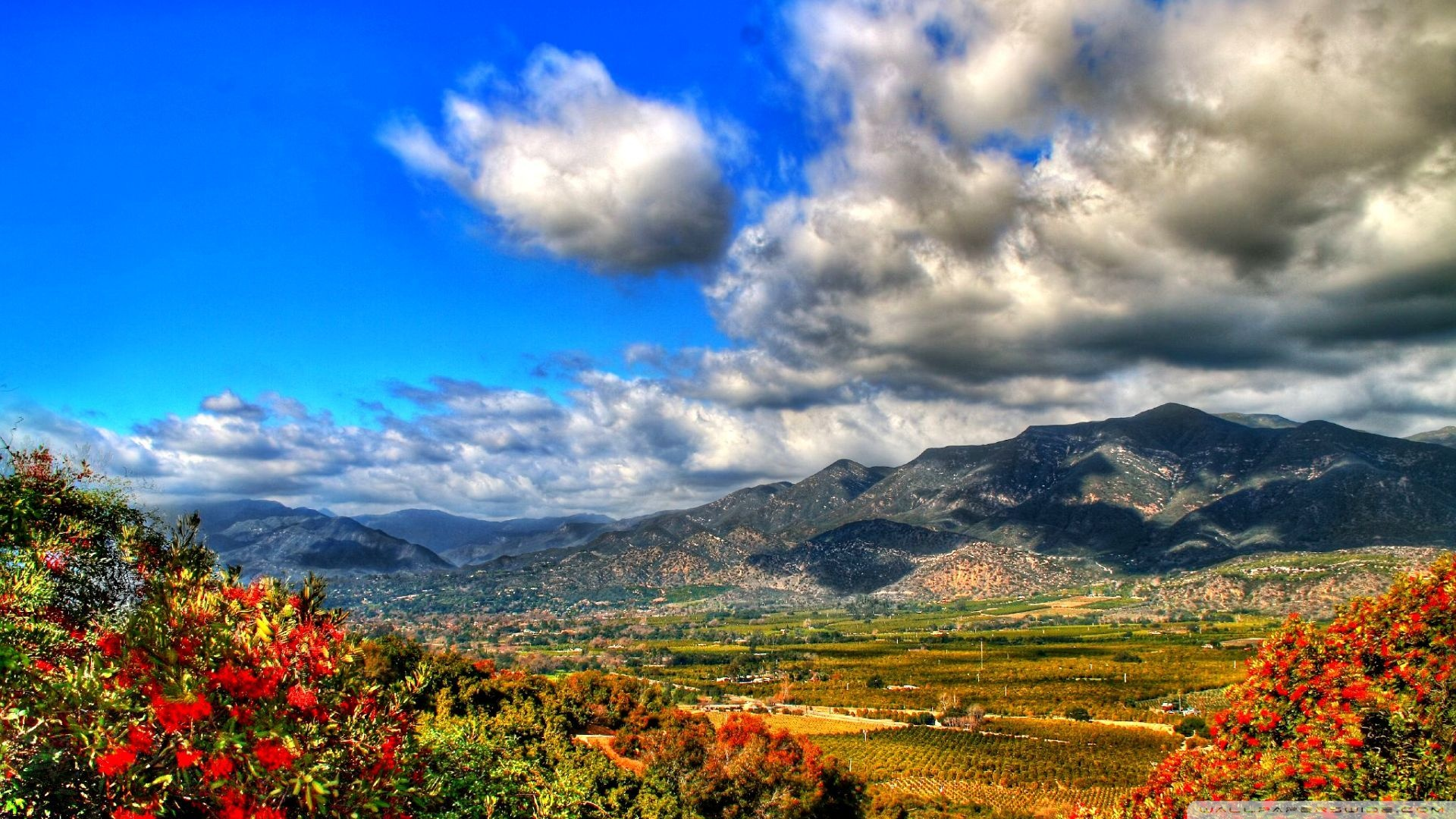 Download Autumn Mountain Landscape Hdr  1920x1080 HD Wallpaper
