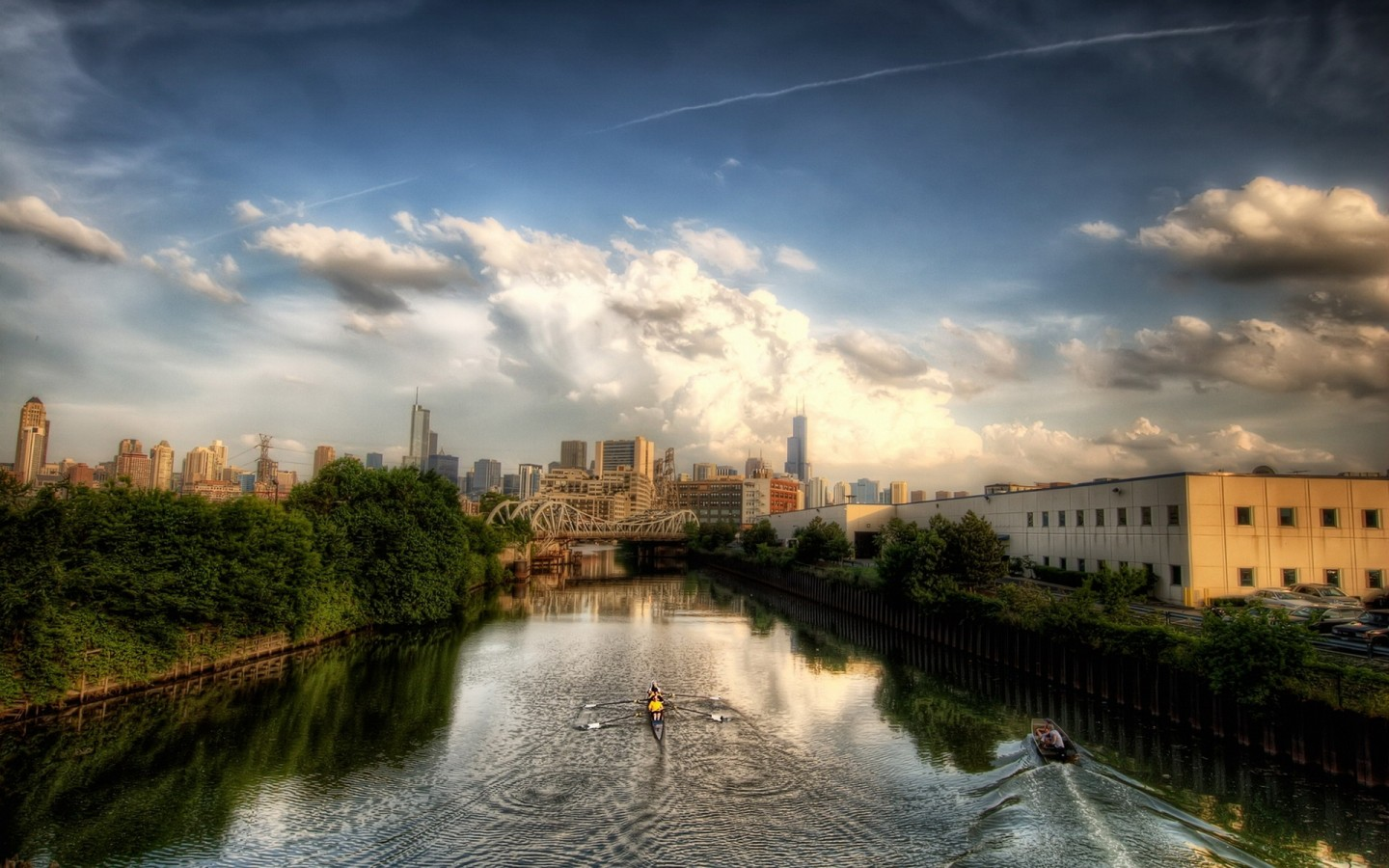 Chicago Illinois River Hdr   My  HD Wallpaper