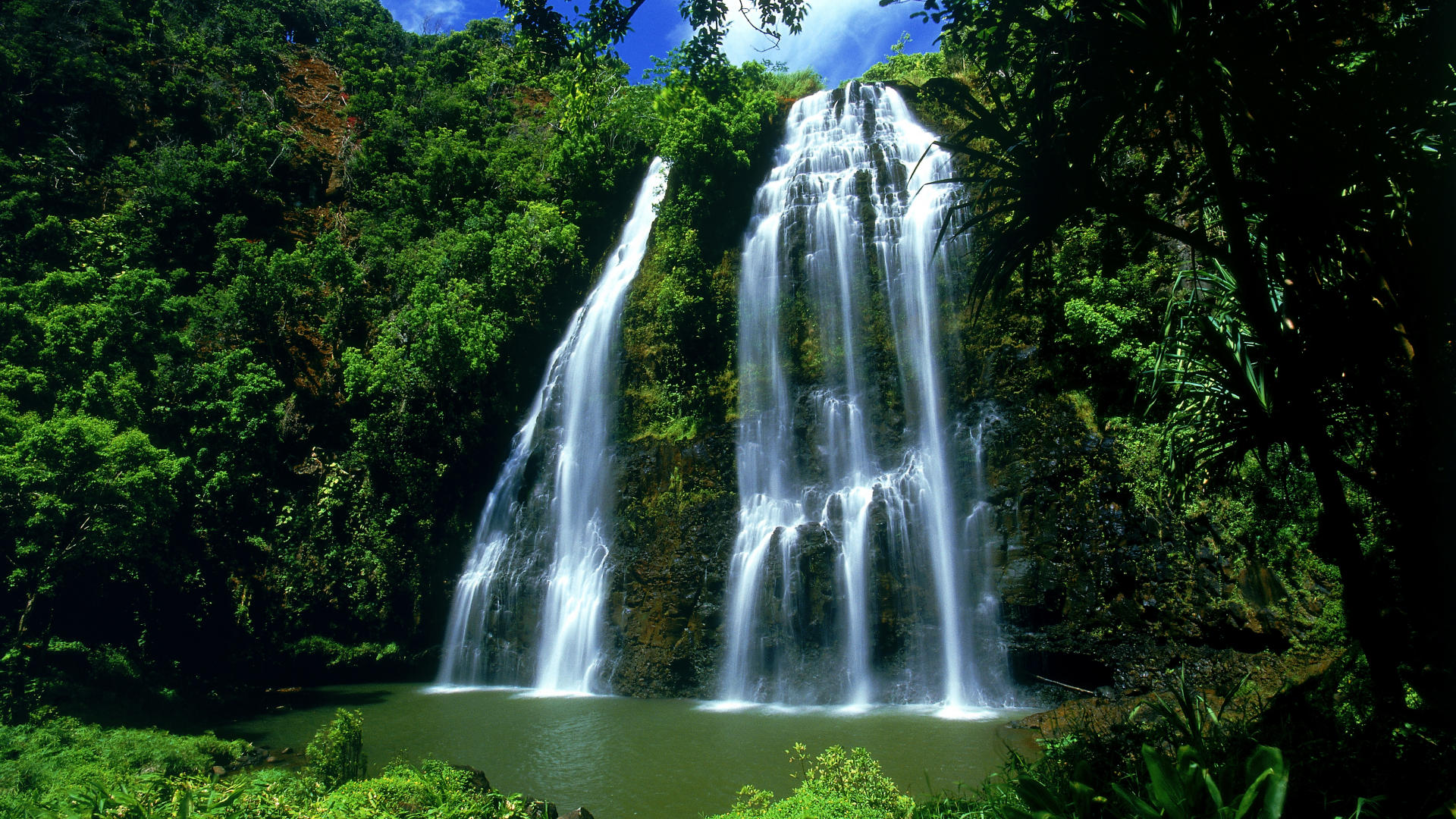 Hawaiian Waterfalls   Nature  Wallike  HD Wallpaper