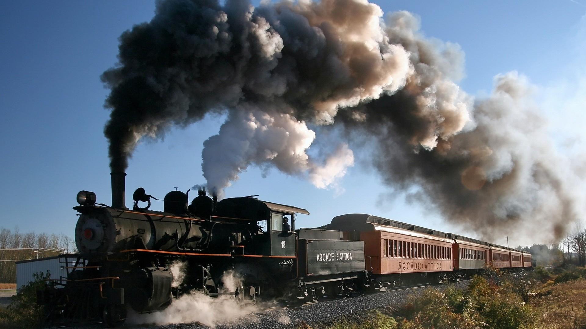 Steam Train Wall Trains Vehicles Trainway Art Hd HD Wallpaper