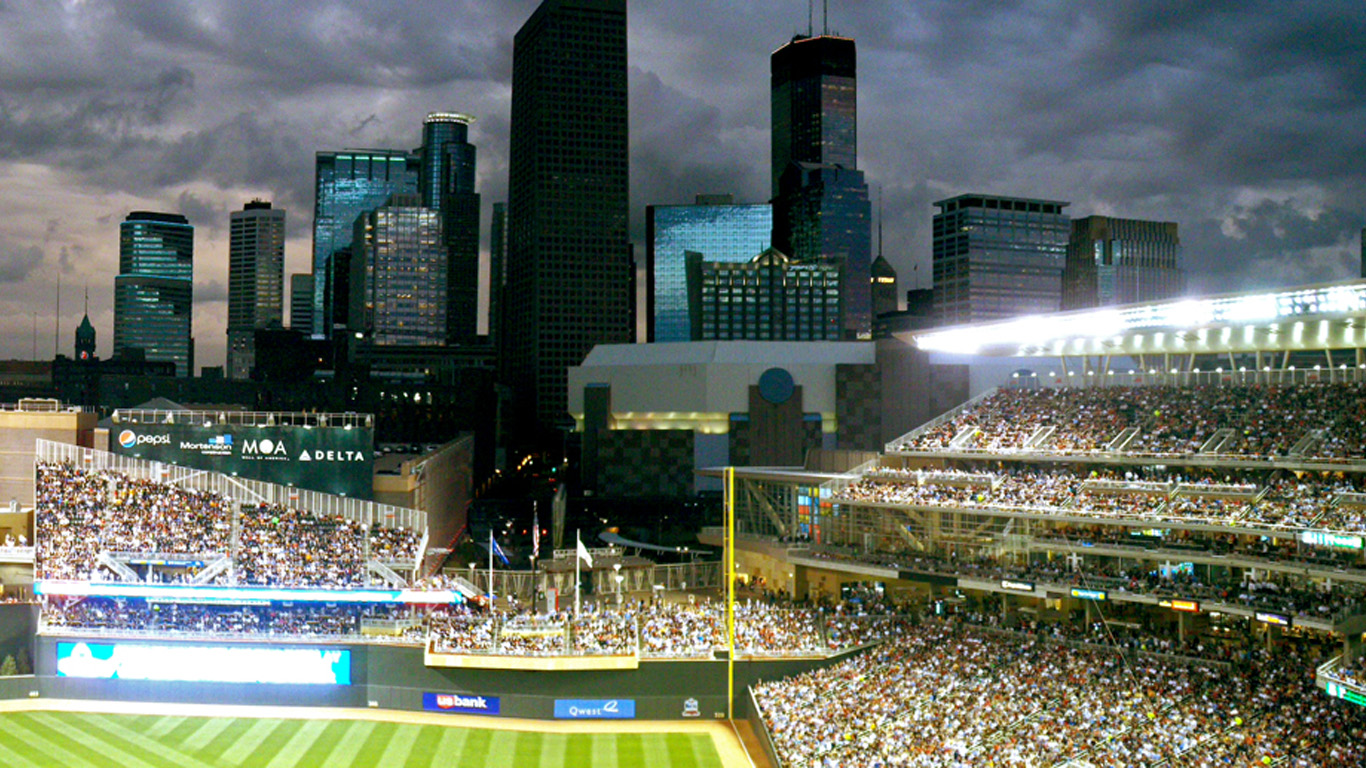 Minnesota Twins Target Field Skyline  HD Wallpaper