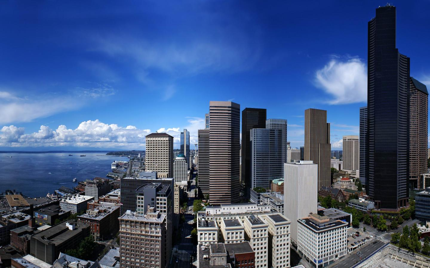 seattle cityscape  seattle  washington   United States  USA Pictures HD Wallpaper