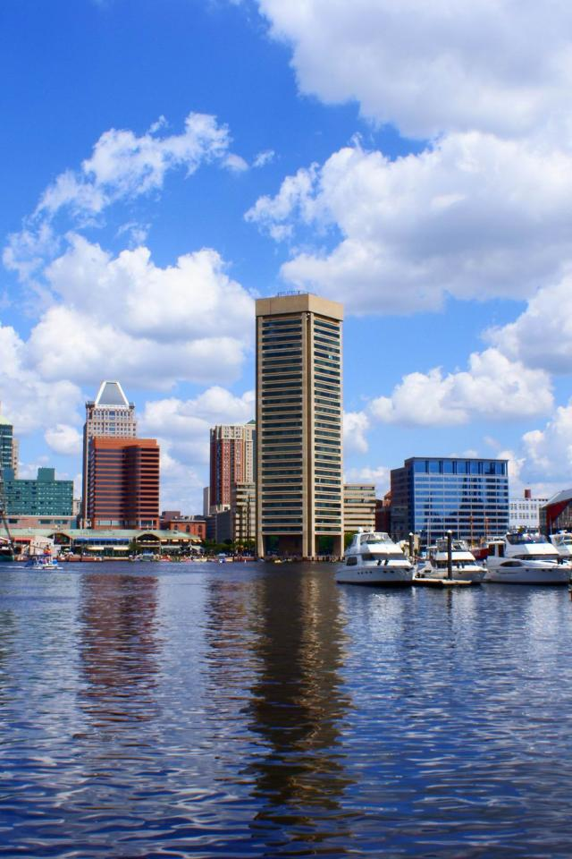 baltimore inner harbor   baltimore  maryland   United States  USA HD Wallpaper