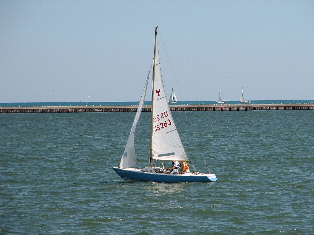 File Sailboat off Veterans Park  Milwaukee WI jpg   Wikimedia Commons HD Wallpaper