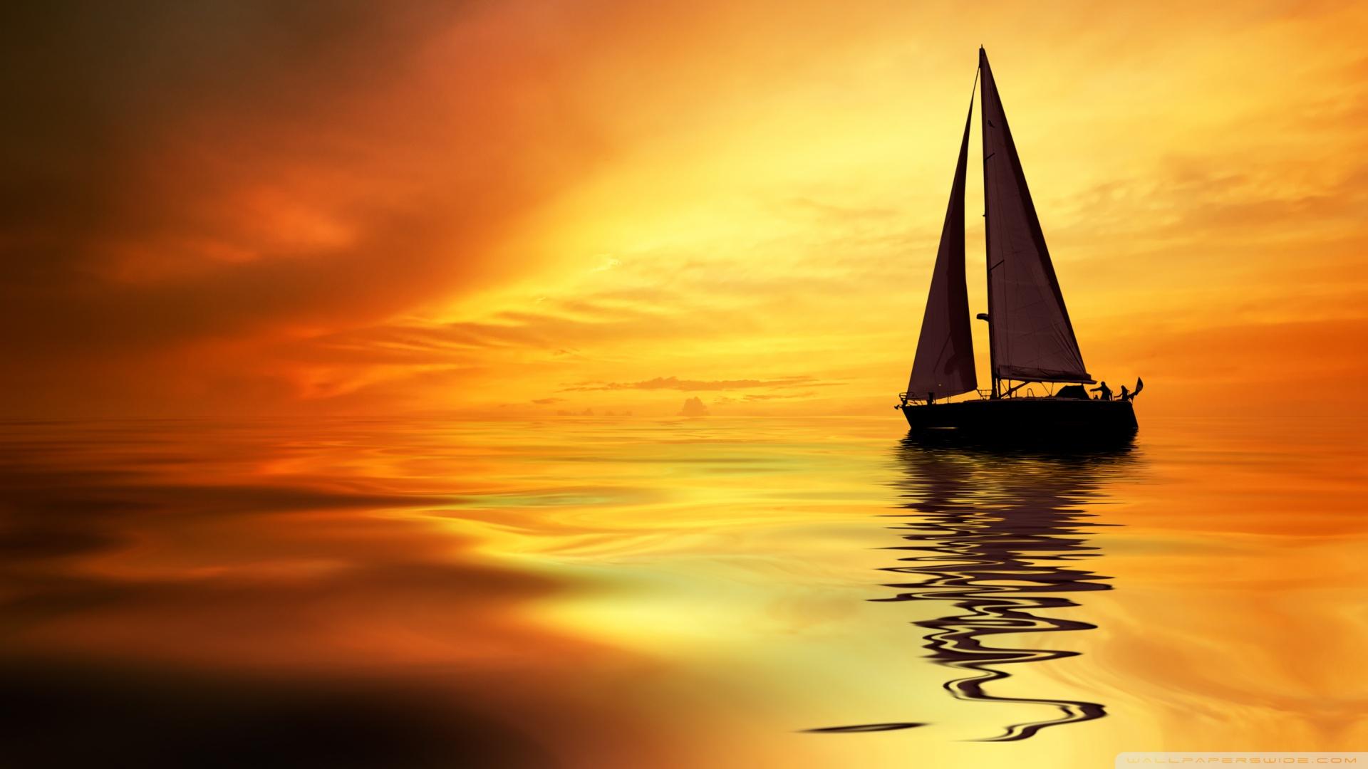 Sail Boat HD desktop    Widescreen   High Definition HD Wallpaper