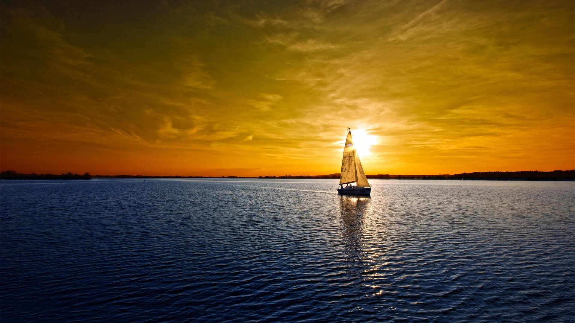 Description The  Above Is Sailboat Lake Sunset In   Free HD Wallpaper