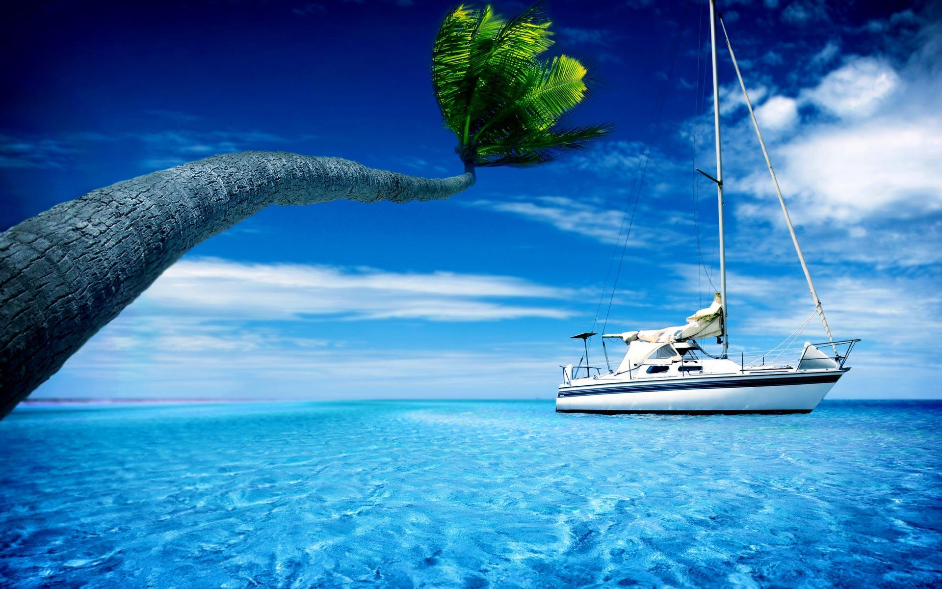 Boat Sail Holiday With Sailing Hd 1920x1200    294116 HD Wallpaper