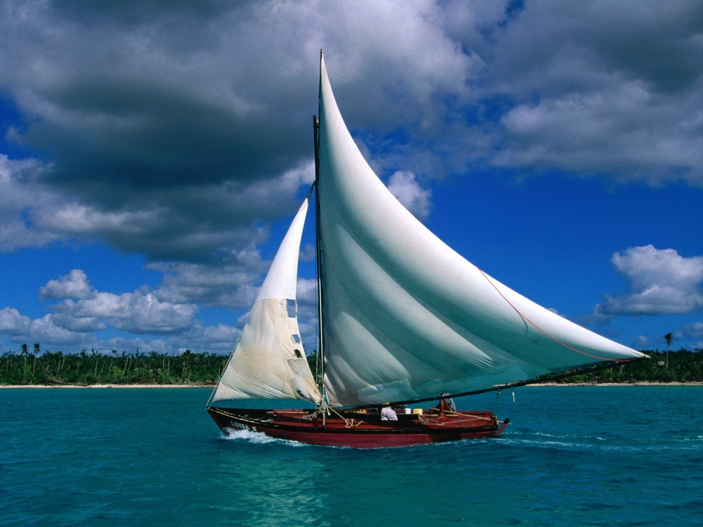 1024x768 Fishing Sailboat desktop PC and Mac  HD Wallpaper
