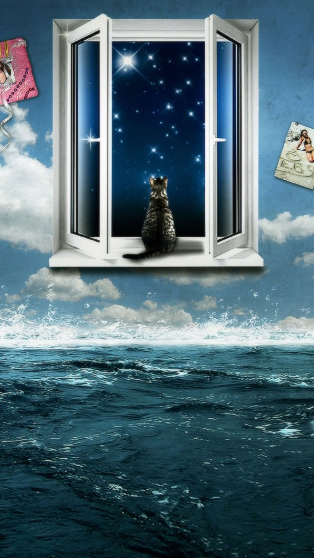 dream room  3d  abstract  animal  blue  boat  cat  cg  clouds HD Wallpaper