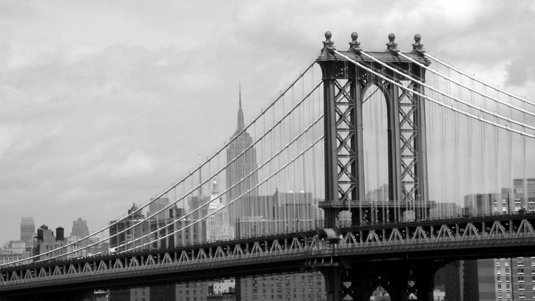 Manhattan  Bridge  New York  USA   us  HD Wallpaper