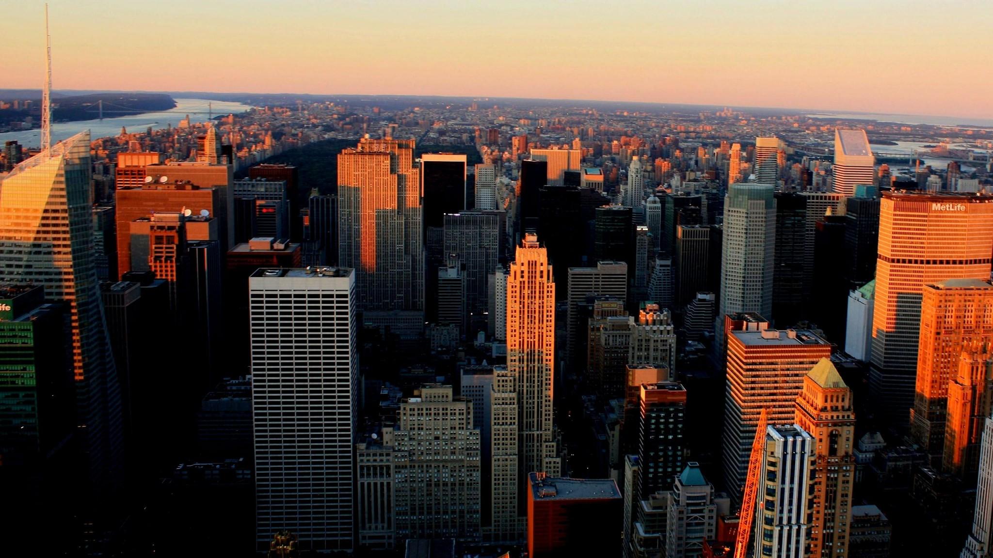 Manhattan Skyline New York Ny Usa   Top  HD Wallpaper