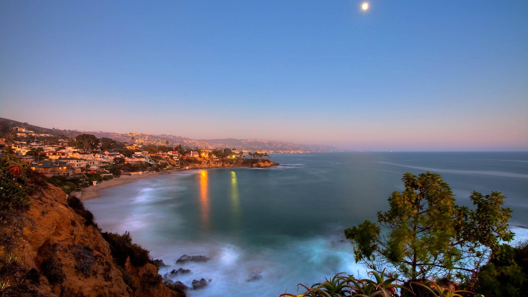 Crescent Bay  Laguna Beach  California  USA Globe  HD Wallpaper