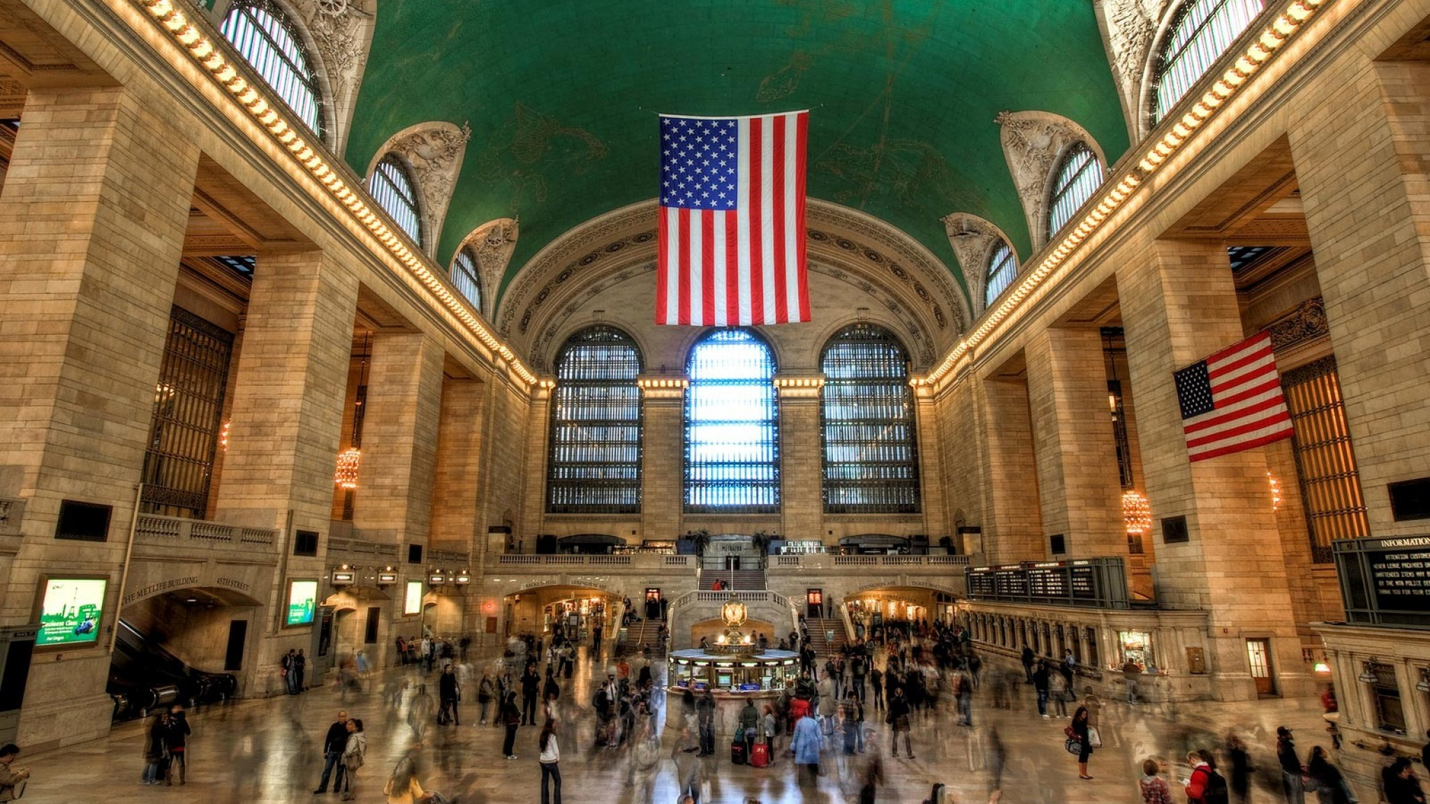 GCT Grand Central Station Midtown Manhattan In New York City HD Wallpaper
