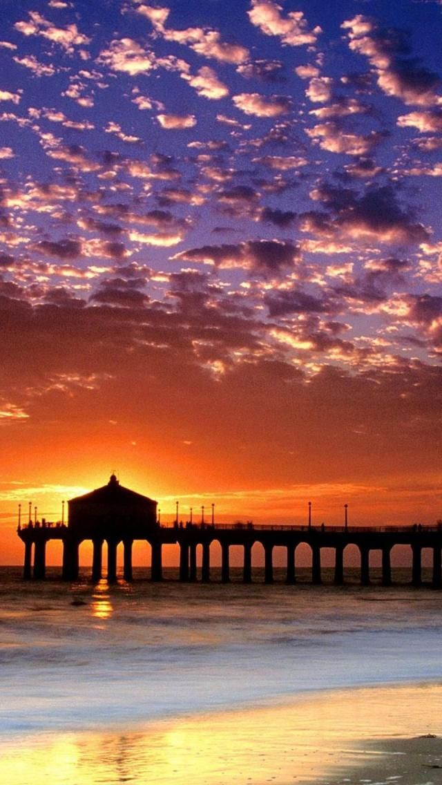 Sunset  Manhattan Beach  Los Angeles   Places I ve Been In My Life HD Wallpaper