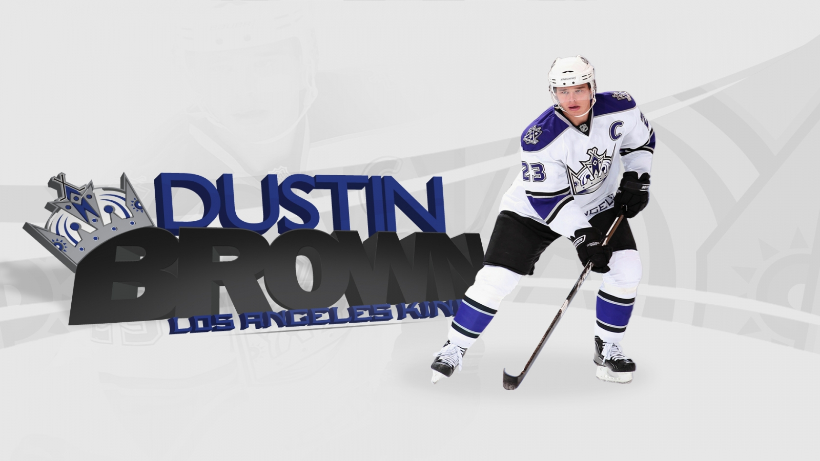 Download 1600x900 Resolution of High def dustin brown la kings HD Wallpaper