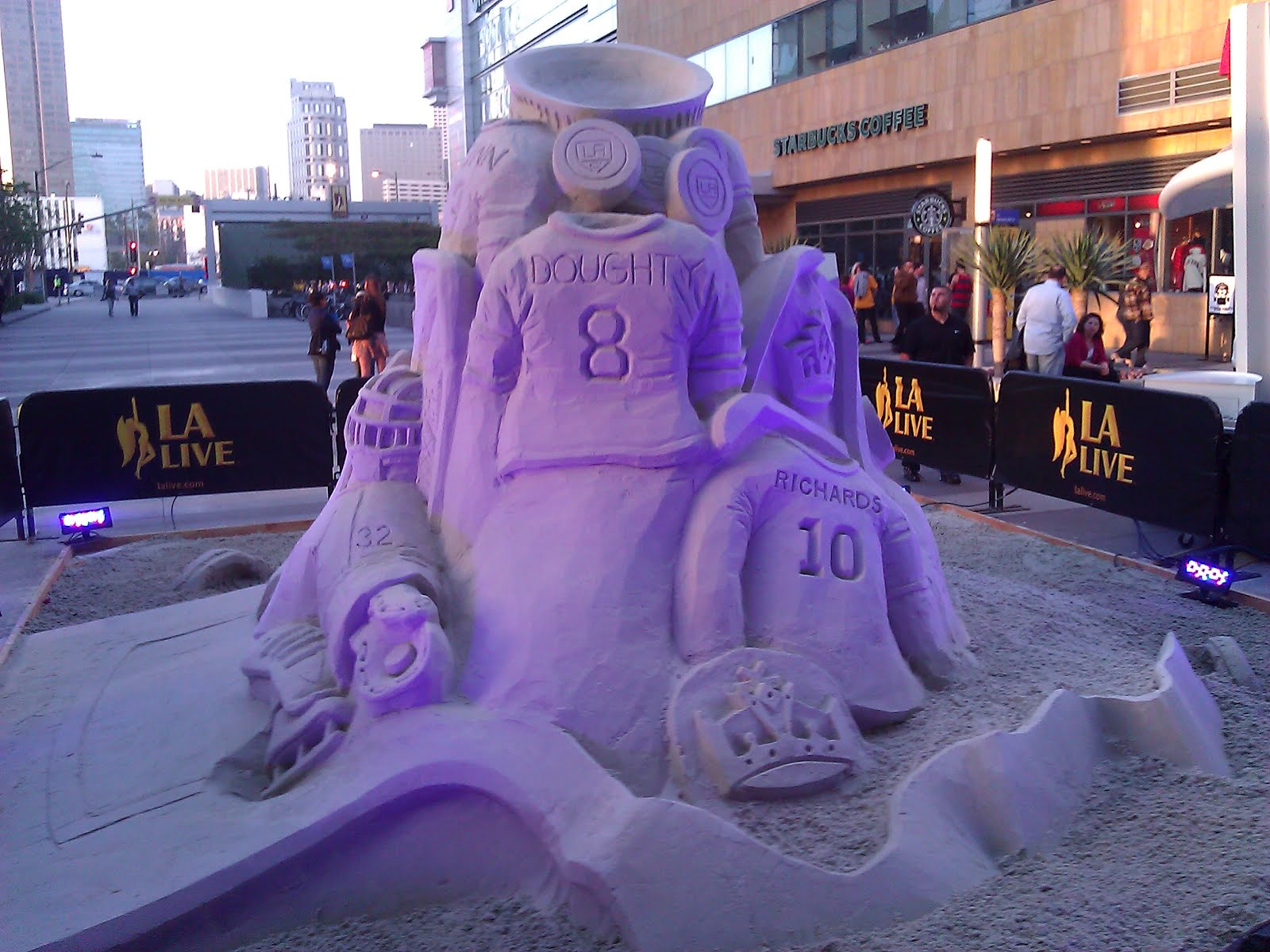 DAVID MATTHEW WRIGHT BLOG  LA Kings Hockey Sand Sculpture HD Wallpaper
