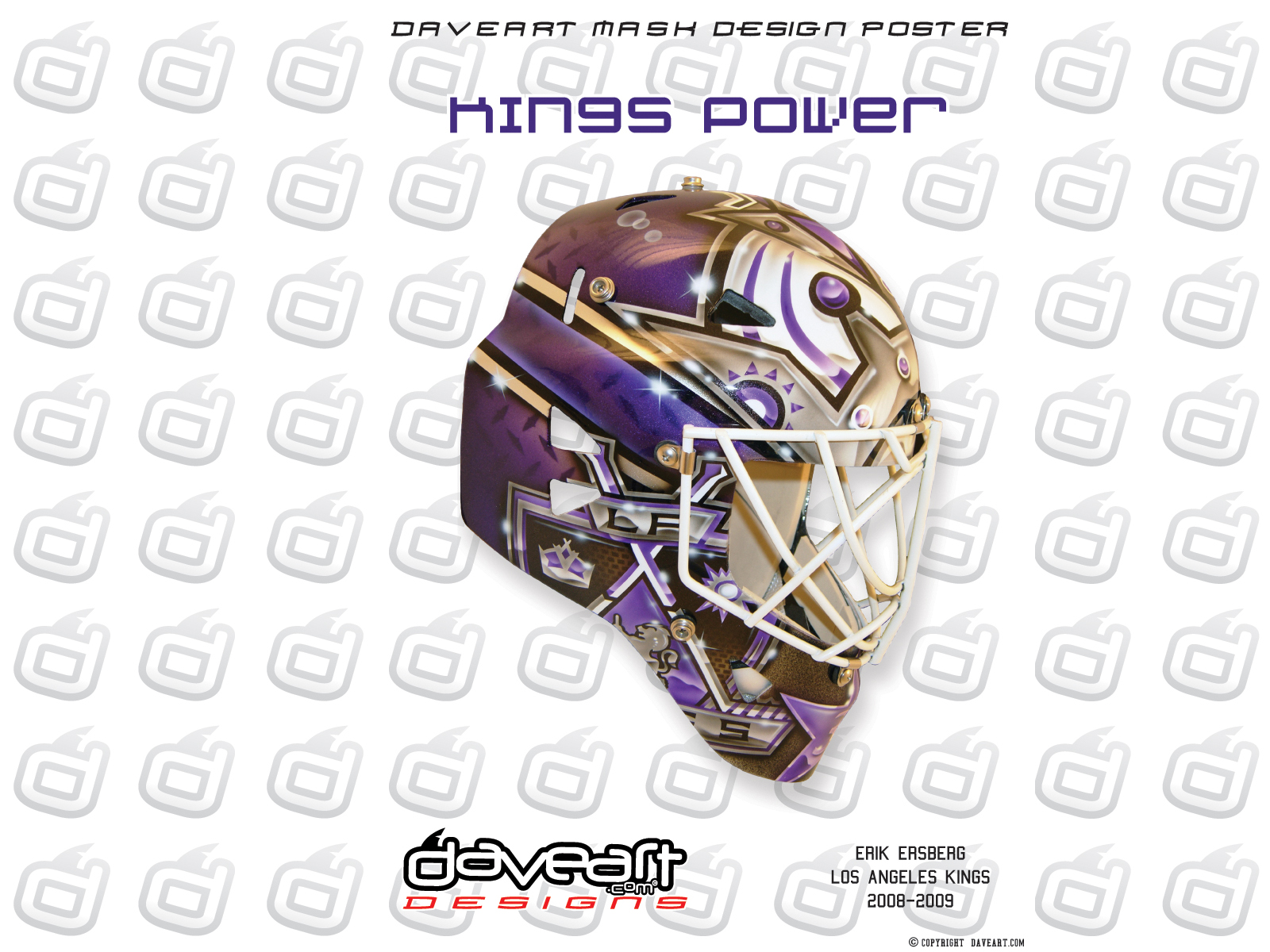 Kings Power   Erik Ersberg  Los Angeles Kings  NHL  2008  HD Wallpaper