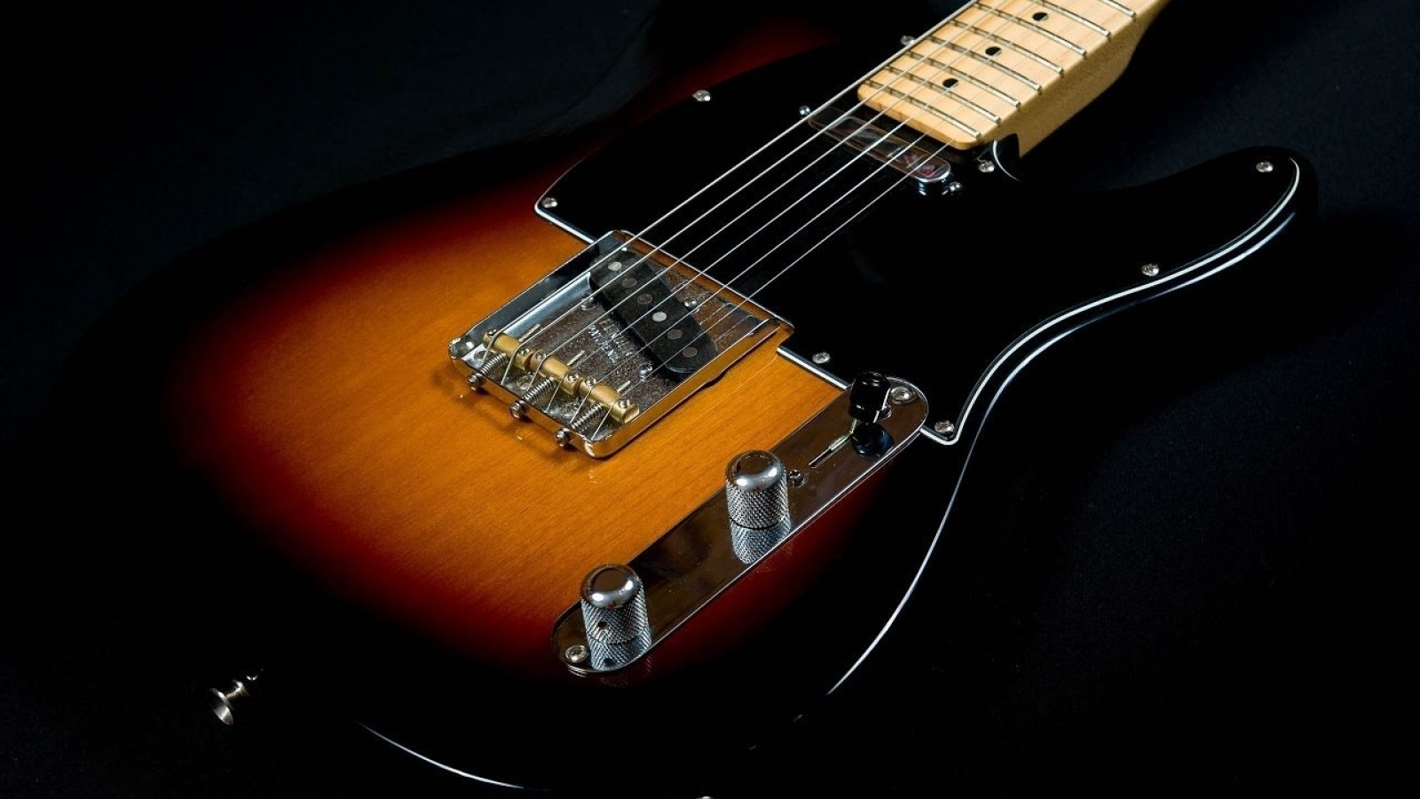 Instruments guitars electric black background telecaster musical HD Wallpaper
