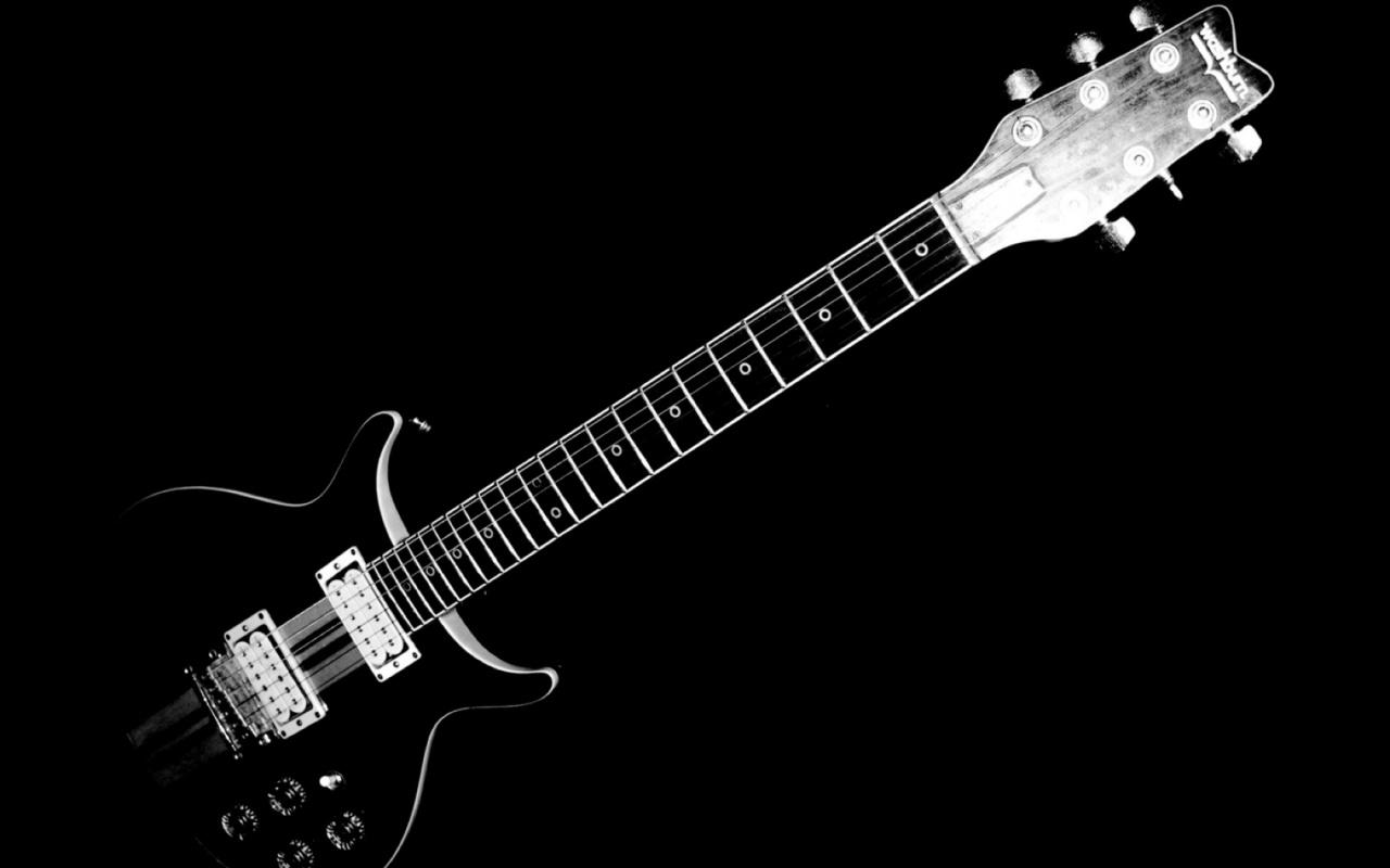 1280x800 Black and White Electric Guitar desktop PC and Mac  HD Wallpaper