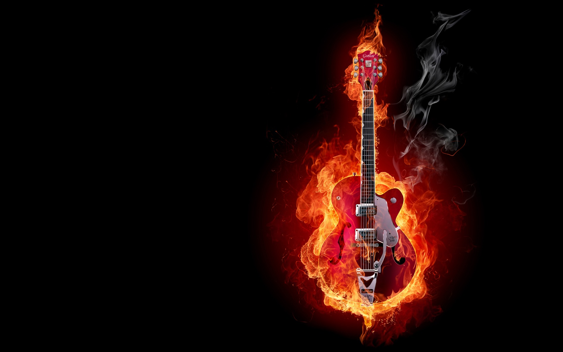 HD Fire Electric Guitar Hd Windows    Electrical Fire HD Wallpaper