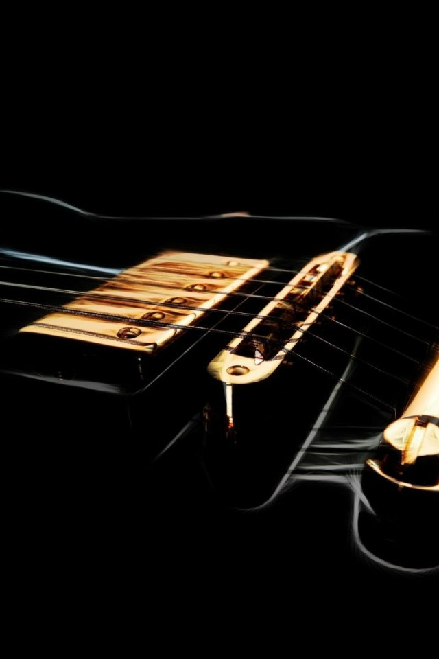 black electric guitar   Free  HD Wallpaper