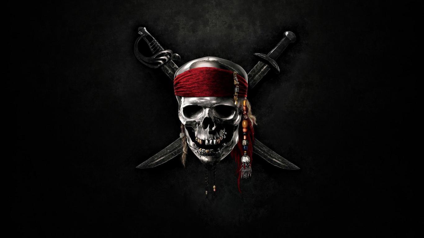 Fantasy Pirate Caribbean Skull Movie Top 1366x768 HD Wallpaper