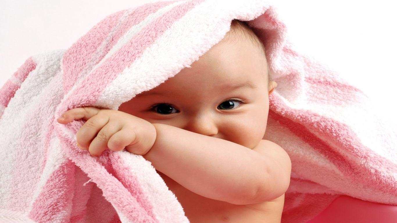 Free Download 1366x768 Resolution of HD cute babies 1 babies on HD Wallpaper