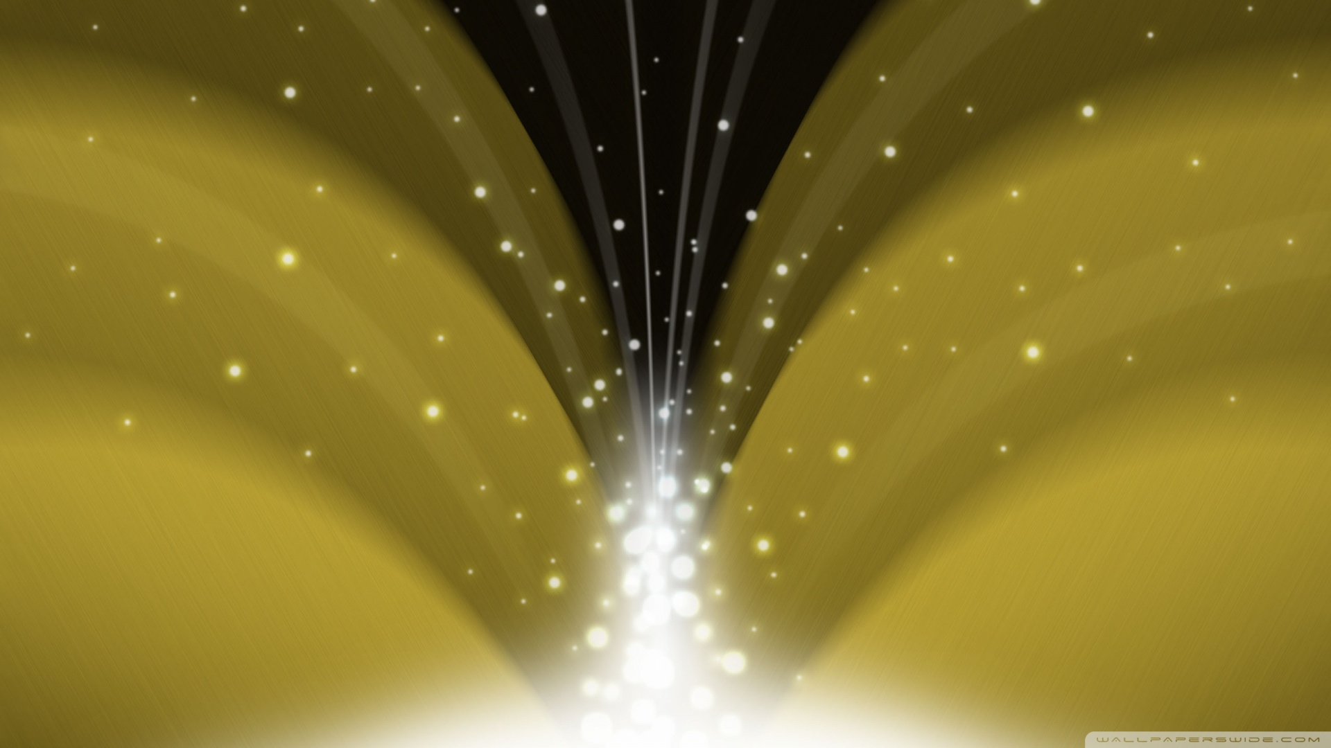 Cascade Of Magic Powder Dark Yellow HD desktop  HD Wallpaper