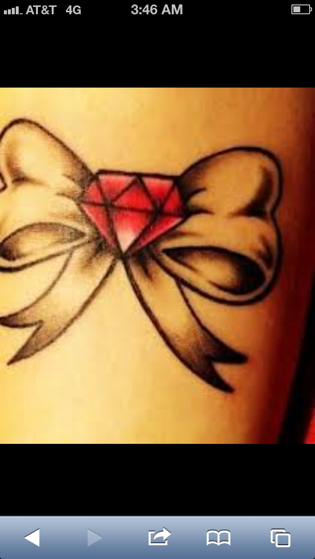 Bow with diamond tattoo   Tattoos HD Wallpaper
