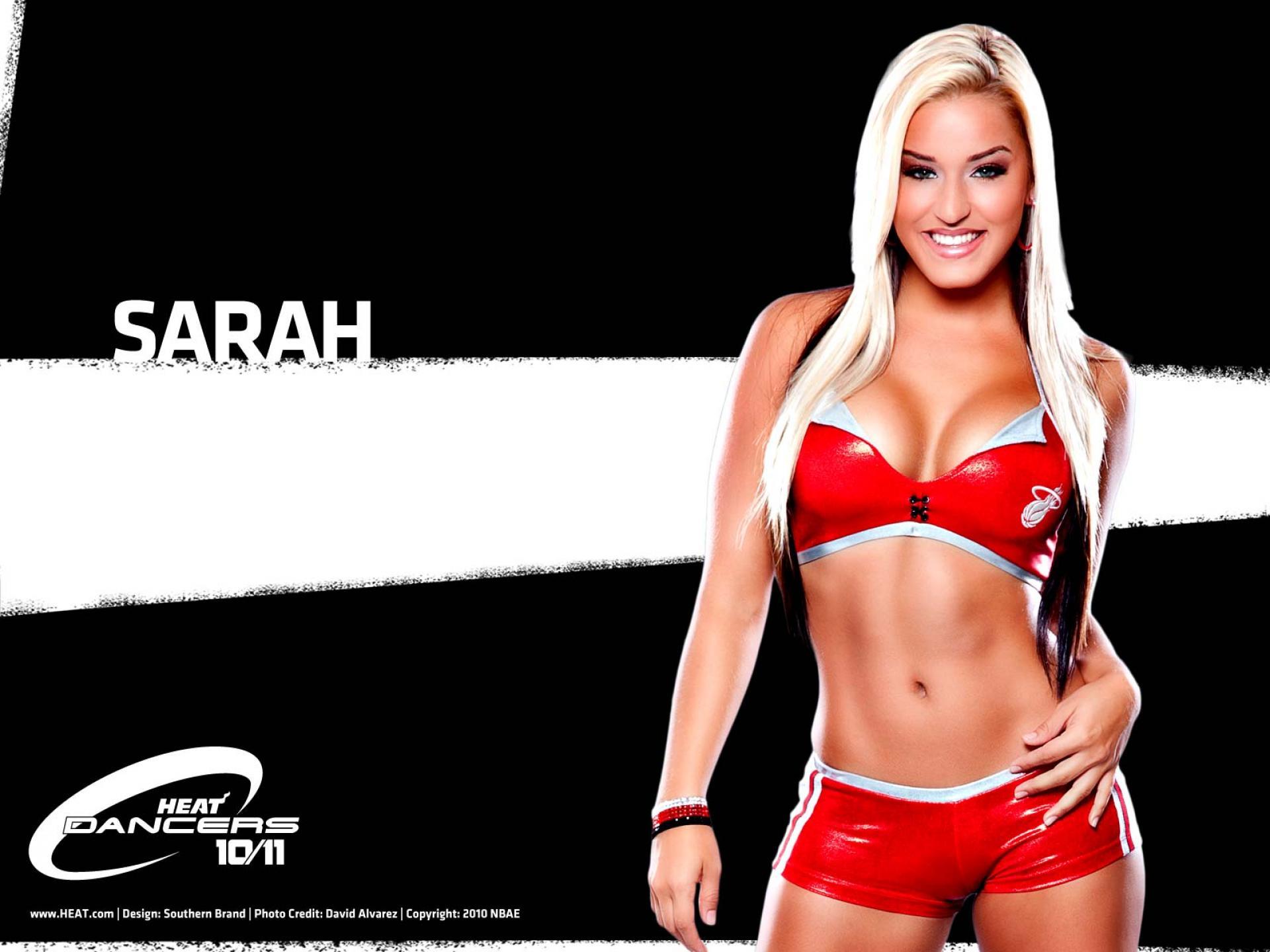 NBA Dancers   Miami Heat   sarah   United States  USA Pictures HD Wallpaper