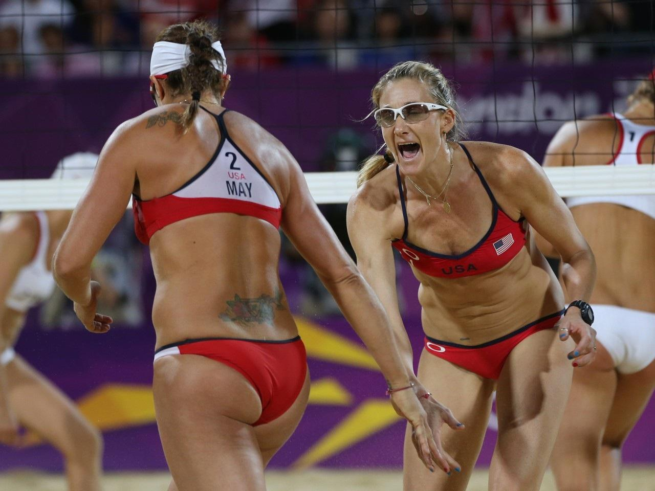 London Olympics Beach Volleyball Women Kerri Walsh Hot Misty May HD Wallpaper