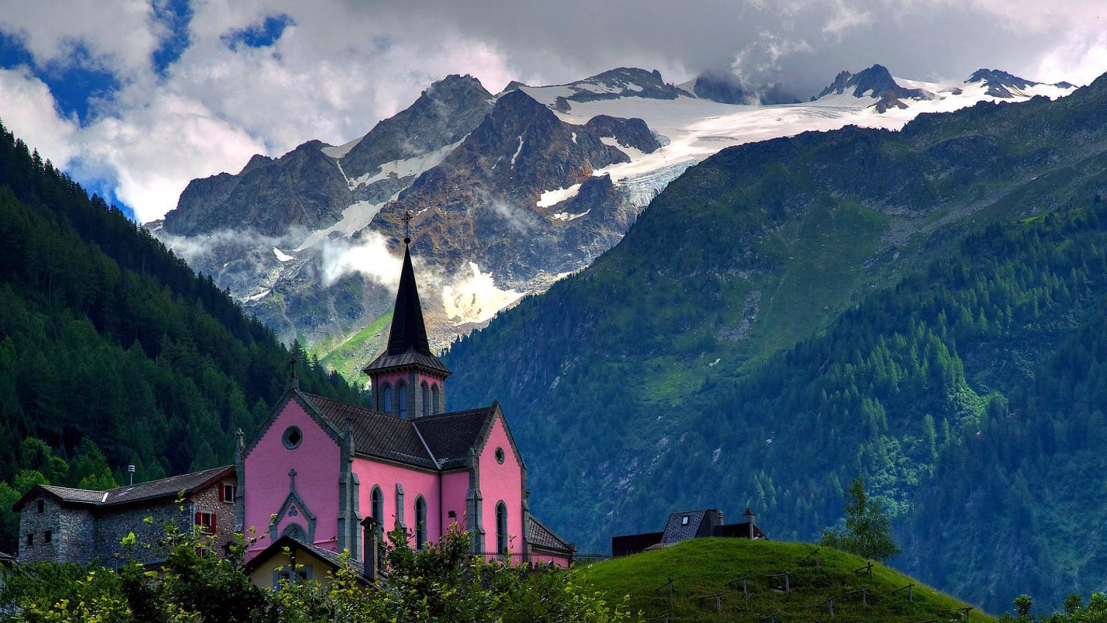 Swiss alps HQ  HD Wallpaper