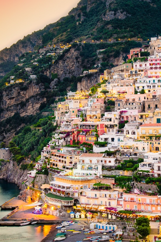 positano  italy HD Wallpaper
