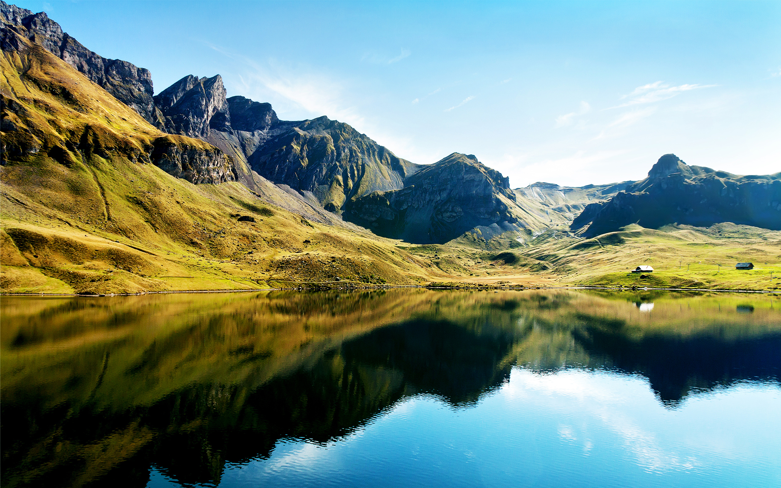 Alps Lake Swiss HD  jpg HD Wallpaper