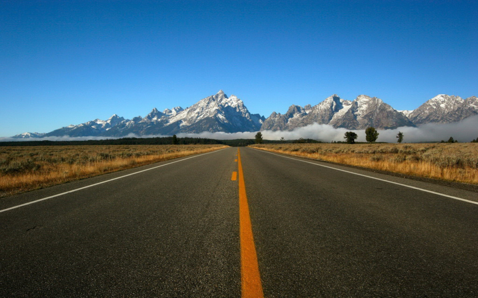 Road to mountains hdr jpg free HD Wallpaper