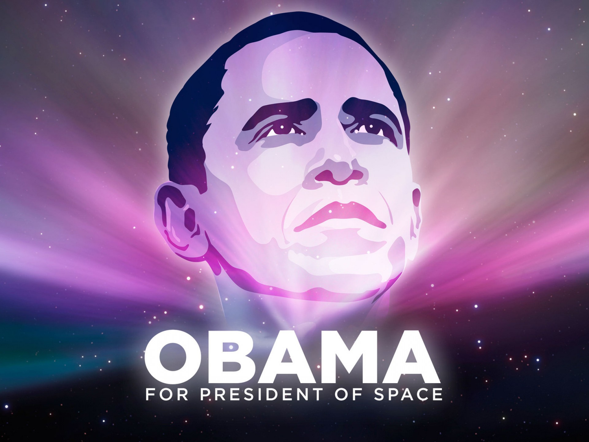 Obama  for president  space HD Wallpaper