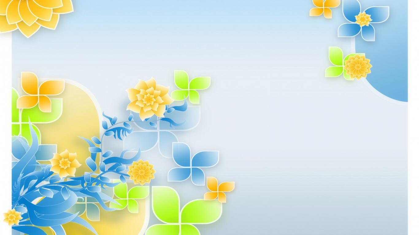 Abstract Spring Flower Desktop HD Wallpaper