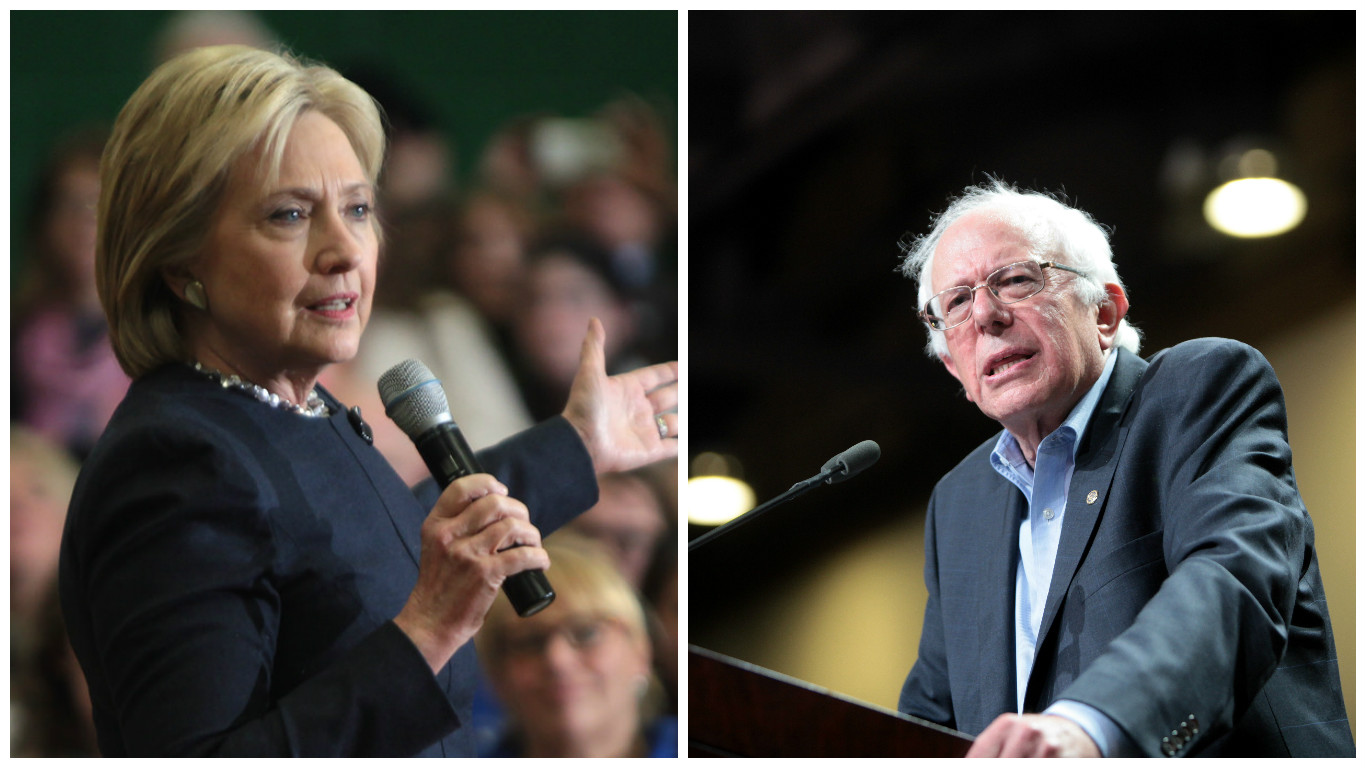 Hillary Clinton and Bernie   HD Wallpaper